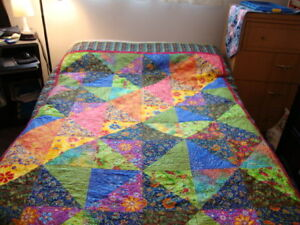 New multicolor  handmade double quilt