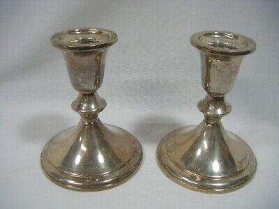 Sterling Silver Vintage Pair of Towle Weighted 850 Candlestick Holders