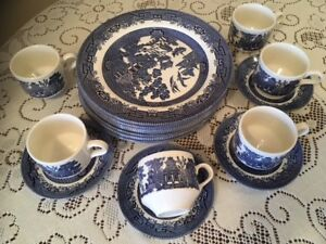 Blue Willow Fine Tableware by Churchill, England