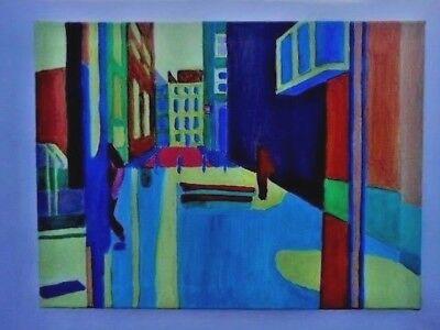 Original Contemporary Oil Painting,  Ramillies Street, London, England