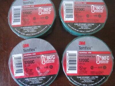 3m Temflex Green 34 Electrical Tape 1700c Flame Retardant A