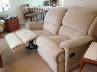 Reclining 2 seat sofa, immaculate, too big for new home