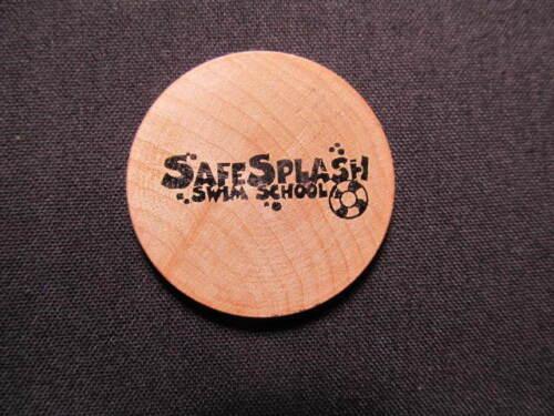 Lone Tree, Colorado Wooden Nickel Token - SafeSplash Swim School Wooden Coin
