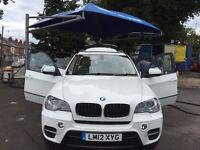 7 Seater BMW X5 (2012) in White (FSH) and BMW Service Plan