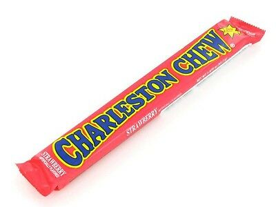 Charleston Chew Strawberry - 24ct Bar - Chewy Flavored Nougat  FREE SHIPPING