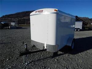2017 5x8 ENCLOSED CARGO TRAILER ROUND TOP 2990LB