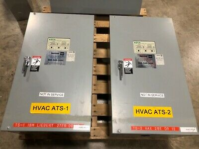Asco 104 Amp 480volt 3 Phase Series 300 Automatic Transfer Switch Cata300310491