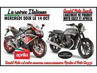LA SOIREE ITALIENNE: DEVOILEMENT MOTO GUZZI ET APRILIA