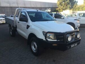 2013 Ford Ranger PX XL 3.2 (4x4) White 6 Speed Automatic Cab Chassis North Strathfield Canada Bay Area Preview