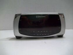 Emerson Dual Alarm Clock AM FM Radio Large Display Dimmable Silver CK5250 Tested
