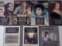 ABC RARE THOMAS HARDY EMILY & CHARLOTTE BRONTE JANE AUSTEN CHARLES DICKENS AUDIO BOOK CASSETTE TAPES
