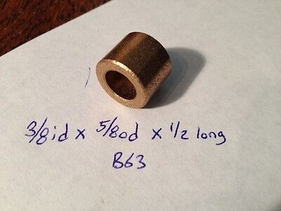 Oilite Bushing Bronze 38 Id X 58 Od X 12 Bearing Bush Sleeve Spacer New B63