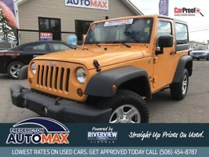 2012 Jeep Wrangler Sport 4x4! Manual! A/C! Hard Top! Certified!