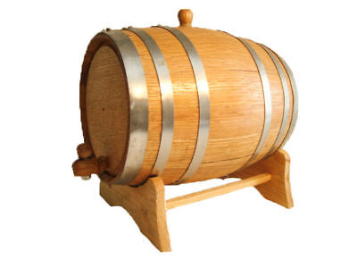 Oak barrel 2 liter Steel Hoop for home aging whiskey or spirits, used for sale  Shipping to Canada