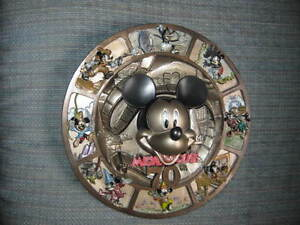 MICKEY MOUSE~70 HAPPY YEARS~COLLECTIBLE 3D RELIEF PLATE~NIB~RARE!