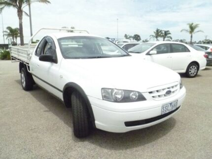 2003 Ford Falcon BA RTV Super Cab White 4 Speed Automatic Cab Chassis Heatherton Kingston Area Preview