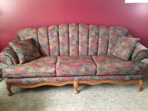 excellent condition french provincial couch, original upholstery