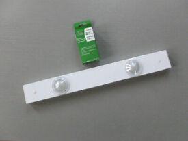 Elegant under cabinet JCC Low Voltage Halogen Double Light Bar - white