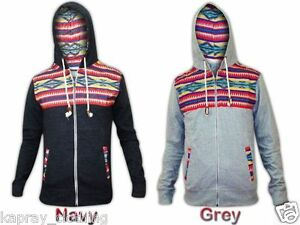 NEW-MENS-AZTEC-PRINT-DESIGNER-HOODY-HOODED-JUMPER-FULL-ZIP-JACKET-FLEECE-TOP