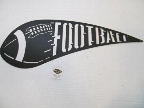 Open Road Brands Laser Cut FOOTBALL Metal Sign