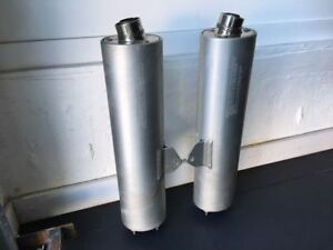 SV1000 2007 exhaust pipes x 2 brand new condition