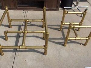 Coffee Table and End Table Heavy Duty Pipe Construction