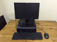 "Complete HP Compaq 6000 Sff Dual Core 2.8GHz 4GB Ram 250GB 19""wide PC"