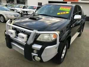 2007 Toyota Hilux KUN26R 06 Upgrade SR5 (4x4) Black 5 Speed Manual Dual Cab Pick-up Granville Parramatta Area Preview