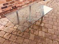Glass coffee table, £10