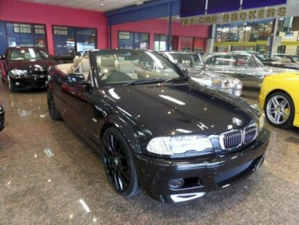 2002 BMW 330CI E46 Black 5 Speed Auto Steptronic Convertible South Melbourne Port Phillip Preview