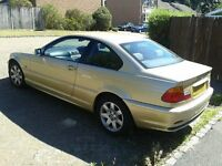 BMW 318 CI, Year 2000 registered, Pale Gold Coupe, 1 lady owner since new, full service history