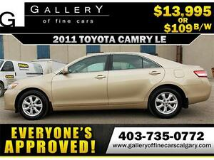 2011 Toyota Camry LE $109 Bi-Weekly APPLY NOW DRIVE NOW