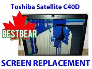 Screen Replacment for Toshiba Satellite C40D Series Laptop