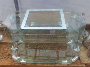 New 125 Gallon Glass Terrarium with Sliding Doors