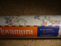 wallpaper 9 rolls Novamura small sprig floral flowers on white background southbourne