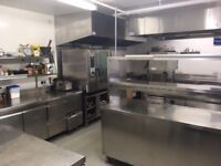 Well equiped commercial kitchen for rent