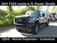 2011 F-350 Lariat 6.7L Power Stroke ~ Lifted ~ Low B/W Payments!