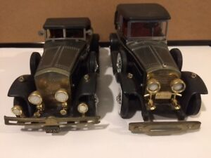 2 DIE CAST CARS WITH BUILT IN RADIOS MADE IN THE 1960'S