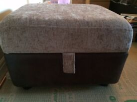 DFS 3 seater, 2 seater swivel chair and storage footstool