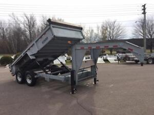 "USED 2016 CAM 81.5"" x 14' HD GOOSE NECK DUMP TRAILER"