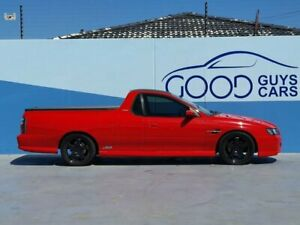 2004 Holden Ute VZ SS Red 6 Speed Manual Utility
