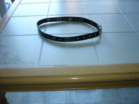 Girls black leather belt size large (10/12) *only worn once