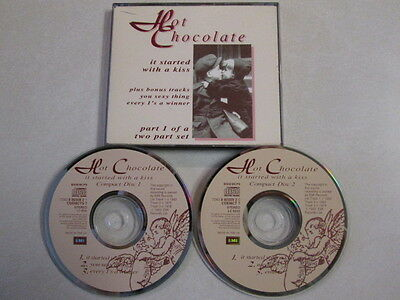HOT CHOCOLATE IT STARTED WITH A KISS CD SINGLE 2 CD SET COMPLETE UK BRITISH SOUL