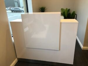 Glossy White Reception Desk for Sale