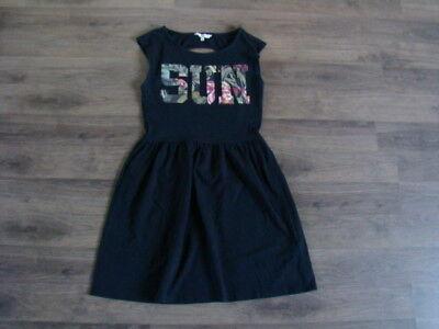 Damen Mädchen SUN KLEID S Hängerchen Tunika Shirtkleid schwarz 3xgetragen ()