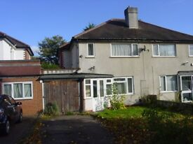 THREE BEDROOM SEMI-DETACHED HOME IN GREAT BARR FURNISHED, GARAGE, EASY ACCESS TO CITY CENTRE £695PCM