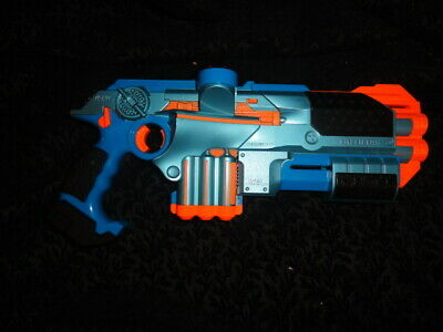 Tiger Electronics NERF Phoenix LTX Lazer Tag Guns w/ Shotgun Attachments Blue