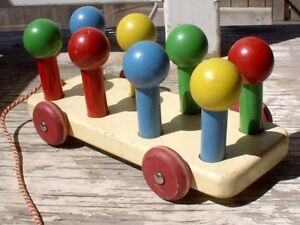 From the farm: old wood pull toy - Canadian made
