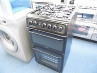 NEW GRADED BLACK ALL GAS HOTPOINT COOKER REF: 11230