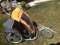 MEC Double Jogger Stroller with Bike Attachment - Chariot Style